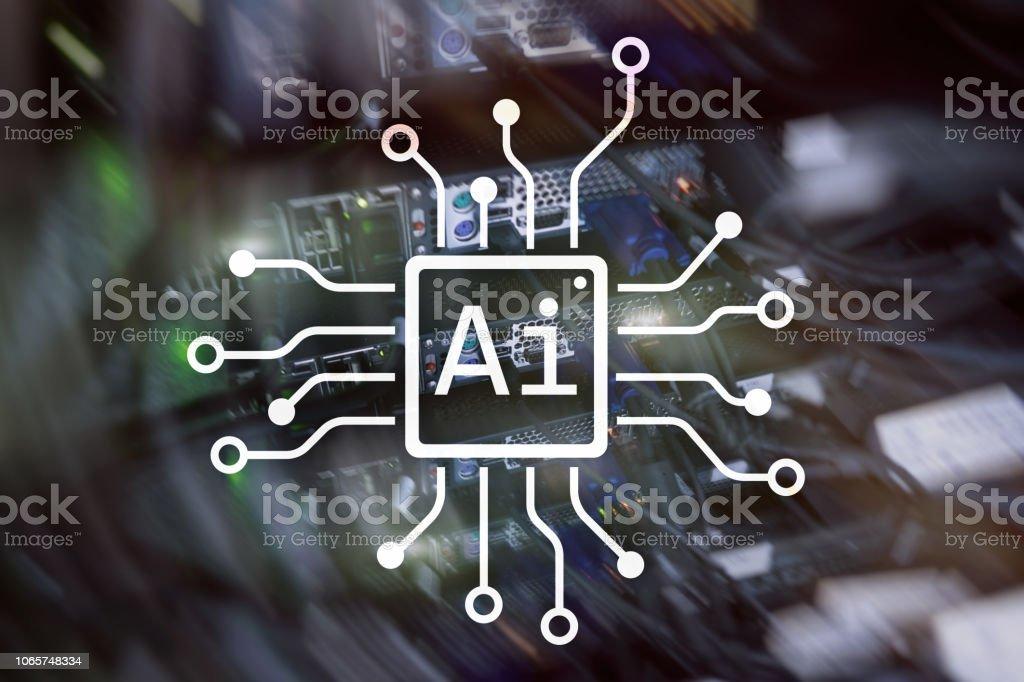 IA, intelligence artificielle, automatisation et concept de technologies modernes de l'information sur écran virtuel. - Photo