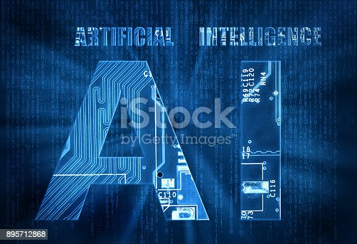 istock Artificial intelligence background 895712868