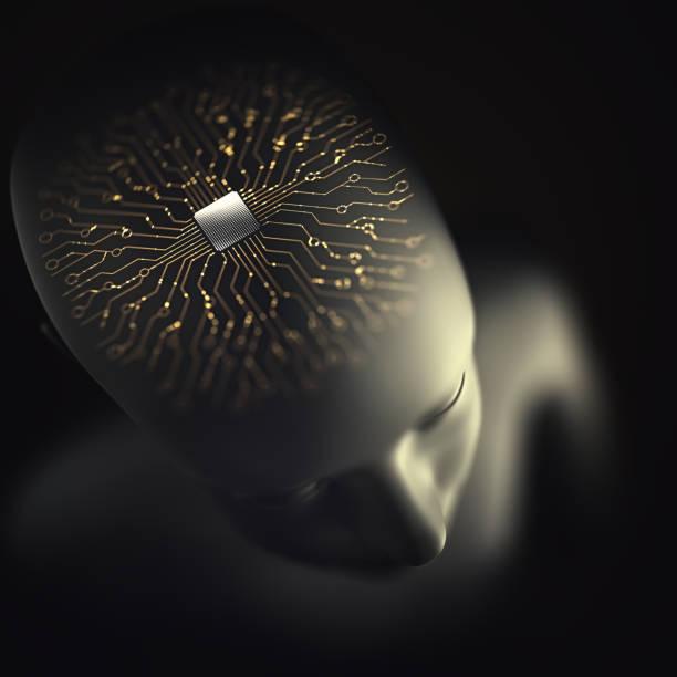 Künstliche Intelligenz Gehirn Mikroprozessor – Foto