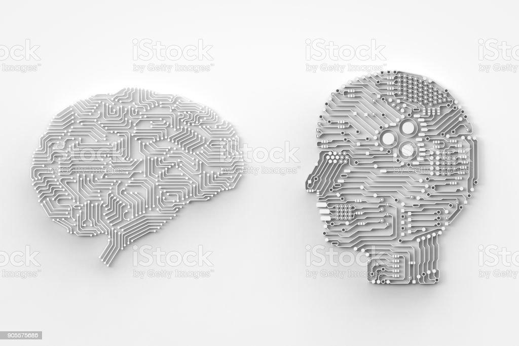 artificial intelligence brain - foto stock