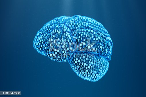 935122742istockphoto Artificial Intelligence - Brain With Binary Connections 1131847838