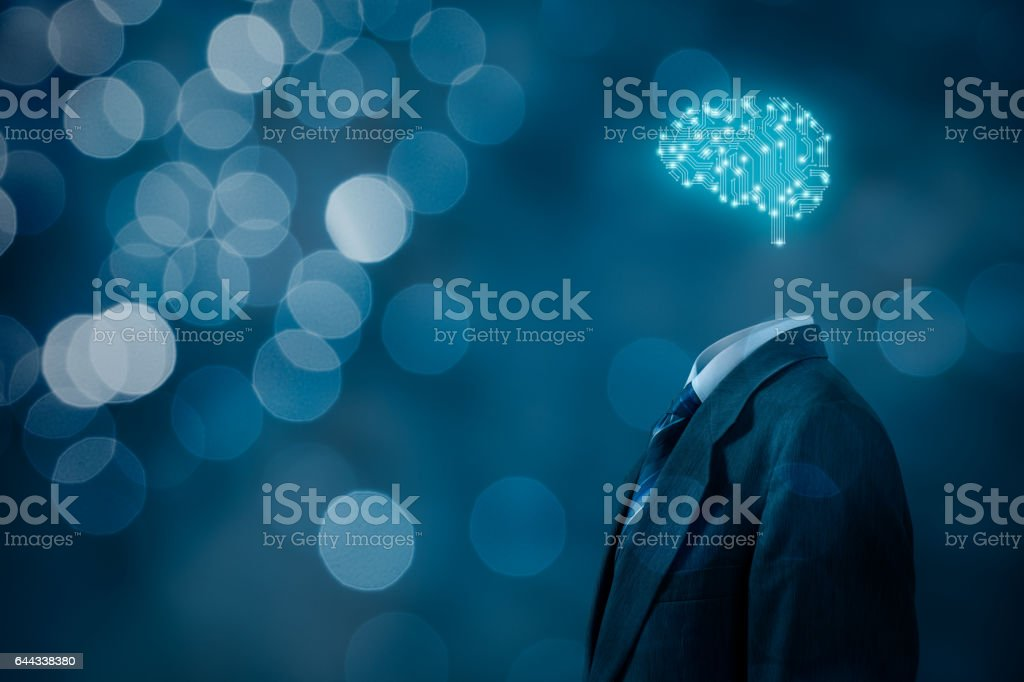 Artificial intelligence, brainstorming stock photo