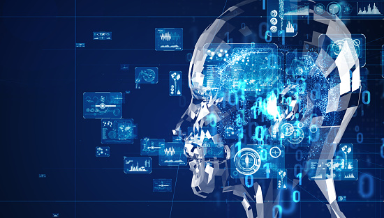 istock Artificial intelligence concept. Cloud computing. Deep learning. 1140691149