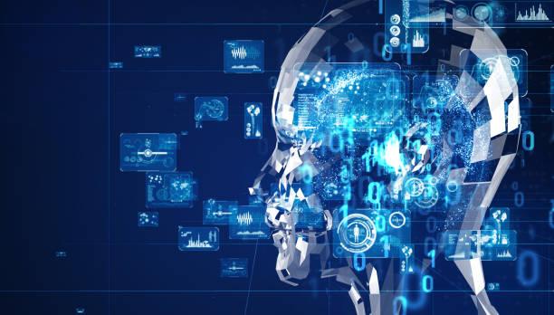 concepto de inteligencia artificial. computación en la nube. aprendizaje profundo. - inteligencia artificial fotografías e imágenes de stock