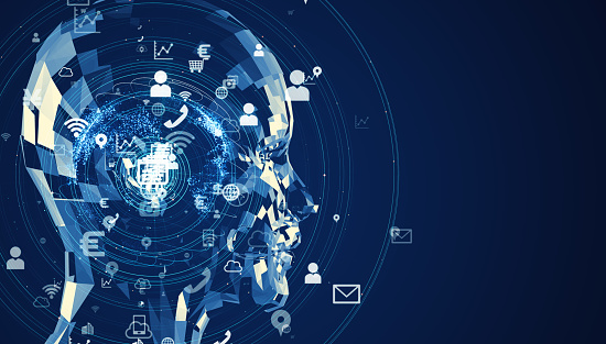 istock Artificial intelligence concept. Cloud computing. Deep learning. 1140691157