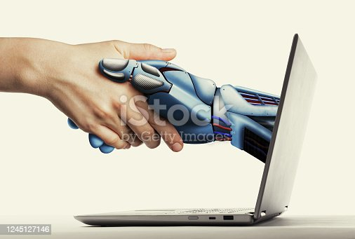 istock Artificial intelligence, concept of future. 1245127146