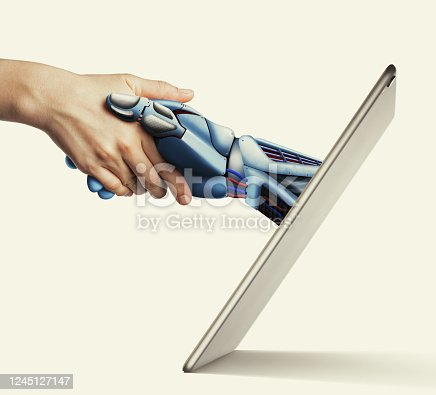 istock Artificial intelligence, concept of future. 1245127147