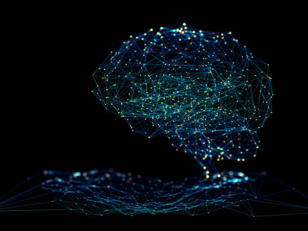 Artificial Intelligence concept Digital background depicting innovative technologies in (AI) artificial systems, neural interfaces and internet machine learning technologies neuroscience abstract stock pictures, royalty-free photos & images