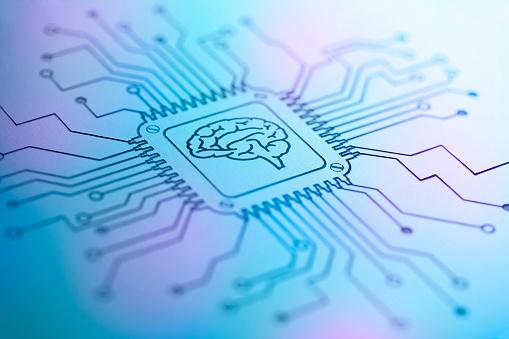Brain on a printed circuit board.