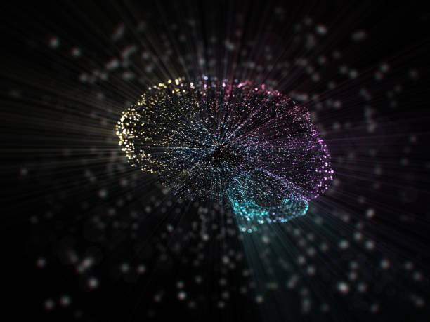 künstlicher intelligenz konzept - synapse stock-fotos und bilder
