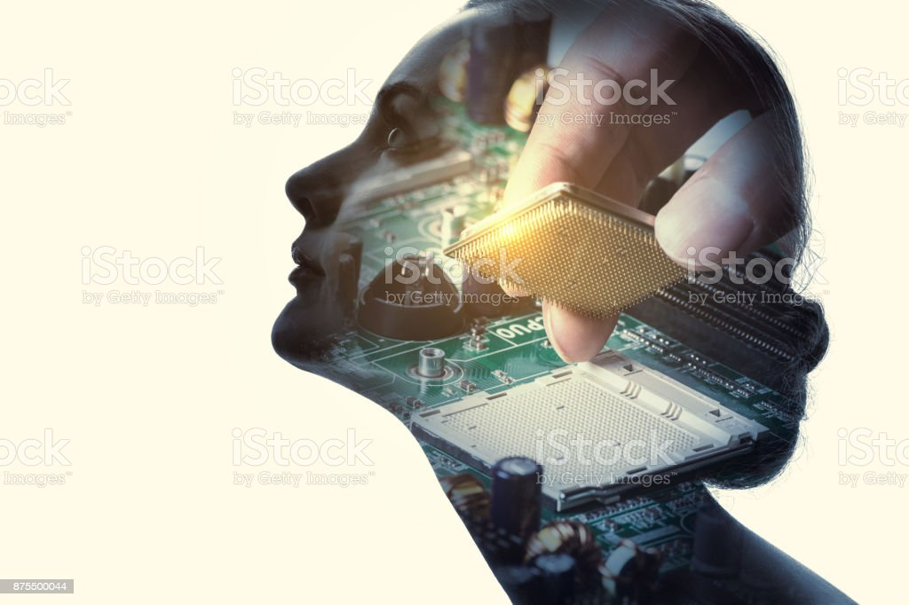 Artificial Intelligence concept. stock photo