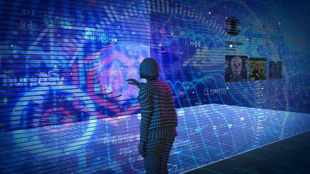 Artificial Intelligence concept profile media stock photo