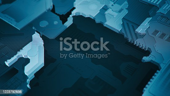 872460930 istock photo Artificial Intelligence CPU block 1223792656