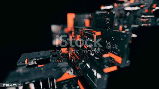 970317224 istock photo Artificial Intelligence CPU blocks 1204702597