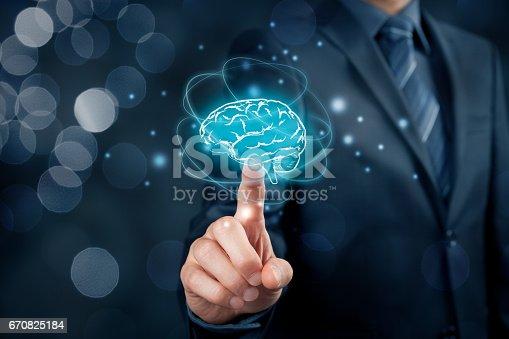 istock Artificial intelligence, creativity, brainstorming 670825184