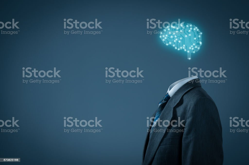 Artificial intelligence, data mining, machine learning stock photo