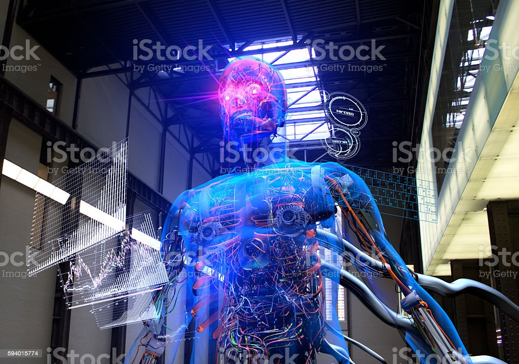 Artificial Intelligence Design Factory stock photo