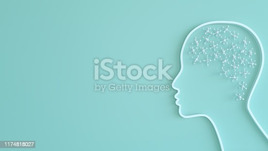 Artificial Intelligence digital concept with brain shape