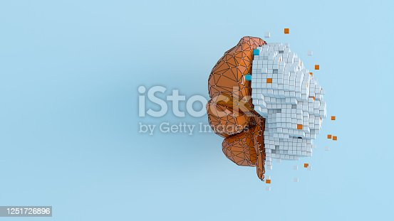 Artificial Intelligence digital concept illustrate of modern internet technology and innovative processes 3D rendering