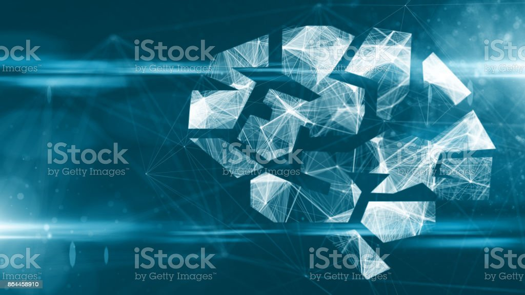 AI Artificial intelligence digital robotic brain deep learning computer machine stock photo