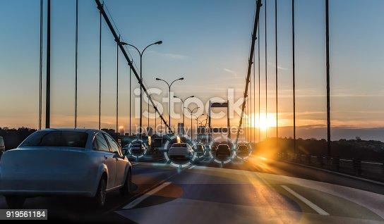 692819426istockphoto Artificial intelligence driving autonomous smart cars 919561184