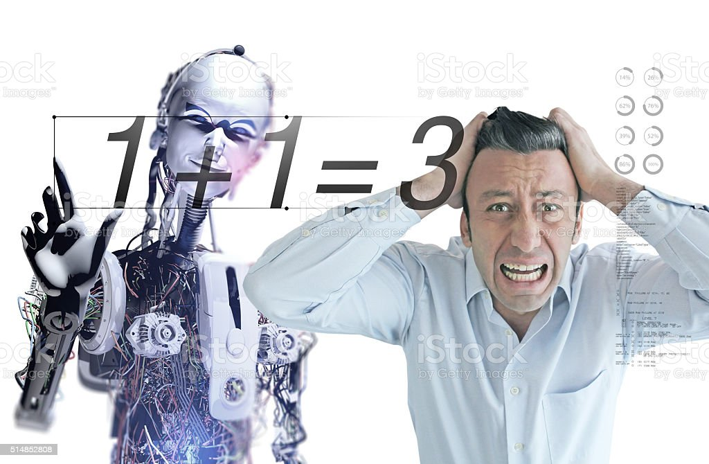 Artificial Intelligence Error stock photo