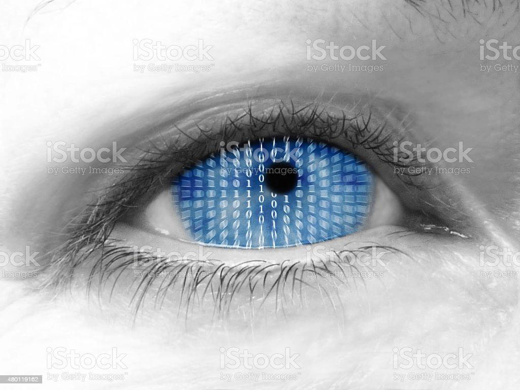 Artificial Intelligence Eye stock photo