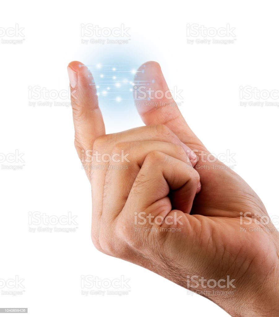Artificial Intelligence Fingertips stock photo