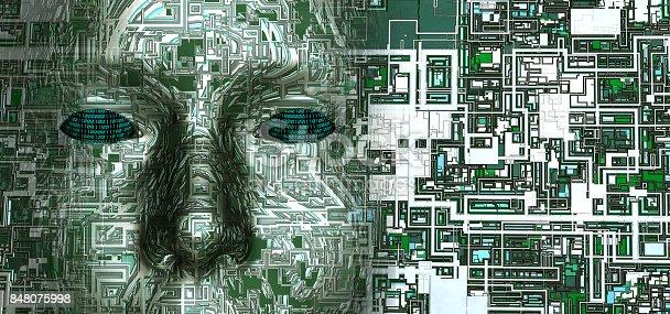 futuristic composition