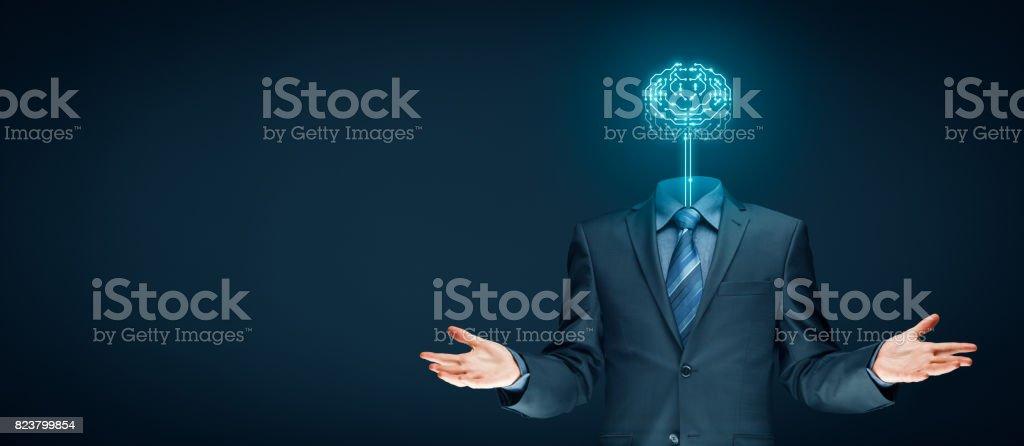 Künstliche Intelligenz (KI), genetische Programmierung, Machine-Learning-Konzepte – Foto