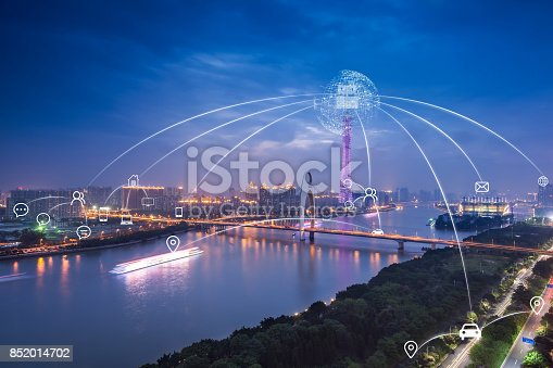852015986 istock photo Artificial intelligence in smart city 852014702