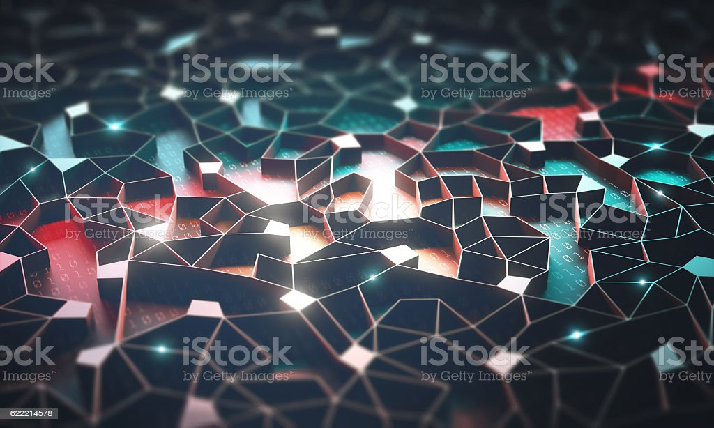 Artificial Intelligence / Neural Network - foto de stock