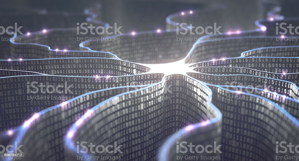 Artificial Intelligence Neural Network ロイヤリティフリーストックフォト