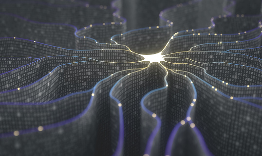 Artificial Intelligence Neural Network Stock Photo - Download Image Now