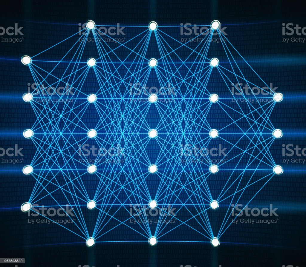 Artificial Intelligence Neural Network stock photo