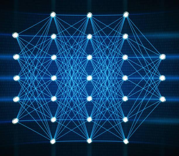 künstliche intelligenz neuronales netz - synapse stock-fotos und bilder