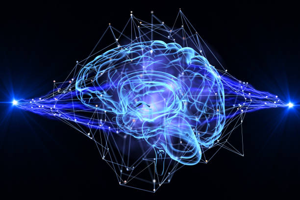 artificial intelligence - nerve cell stock photos and pictures