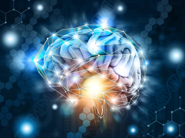 Artificial intelligence,  processing neurological data, brain, cloud Concept of a human brain a artificial intelligence,  processing neurological data, cloud, 3d render neuroscience abstract stock pictures, royalty-free photos & images