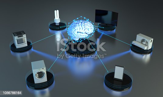 852015986 istock photo Artificial Intelligence - Smart Home Concept 1056786164