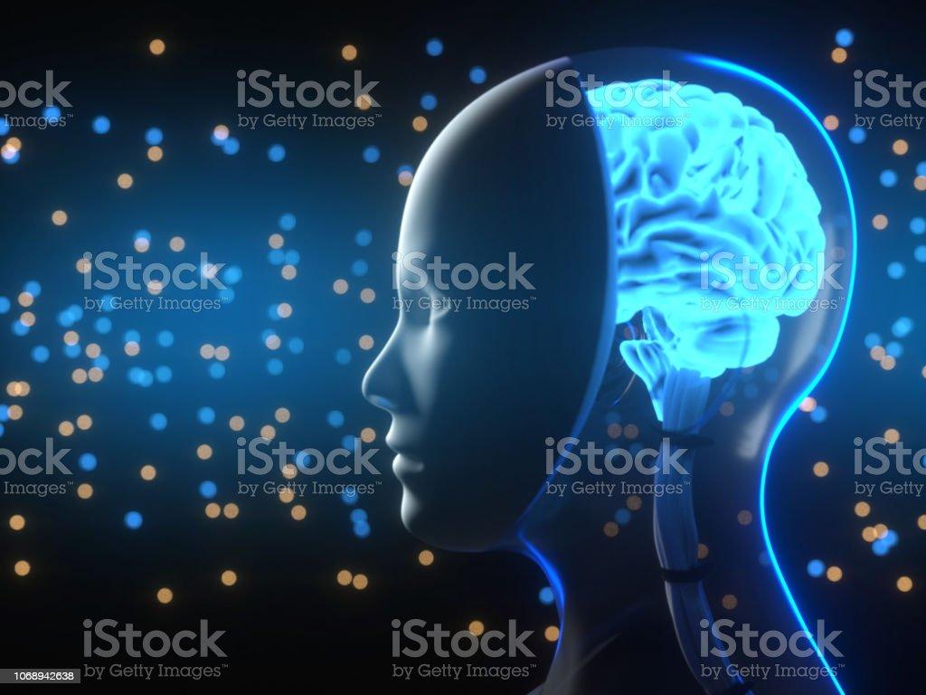 Artificial Intelligence Technology Technology, Computer, Computer Monitor, Cloud Computing, Human Brain Artificial Stock Photo