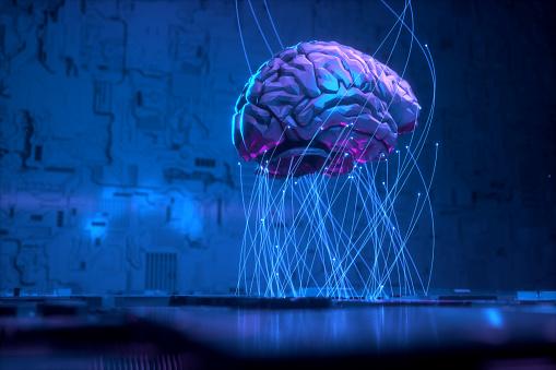 Technology, Computer, Computer Monitor, Cloud Computing, Human Brain