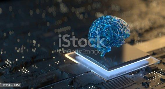 Artificial Intelligence Technology, AI, Brain, Machine Learning, Computer, Futuristic