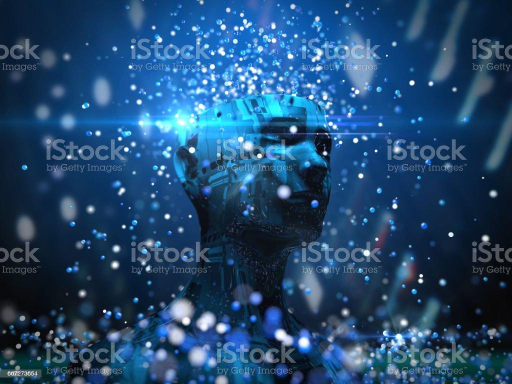Künstliche Intelligenz, Technik Lizenzfreies stock-foto