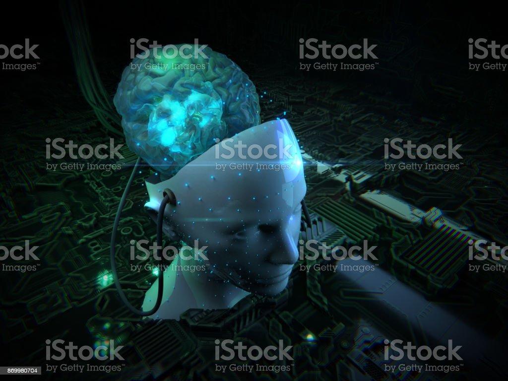 Artificial Intelligence, technology stock photo