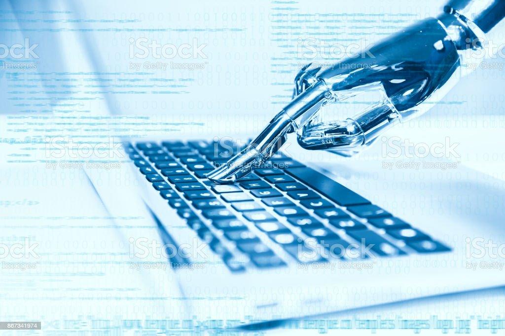 Künstliche Intelligenz mit laptop – Foto