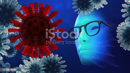 875483824 istock photo Artificial Intelligence vs COVID19, abstract concept of fighting Coronavirus with AI machine learning 1215976934