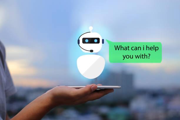 intelligence artificielle, concept de ai chat bot. - chatbot photos et images de collection