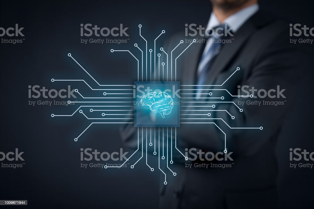 Artificial intellingence stock photo