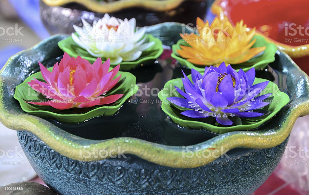 artificial lotus flower royalty-free stock photo