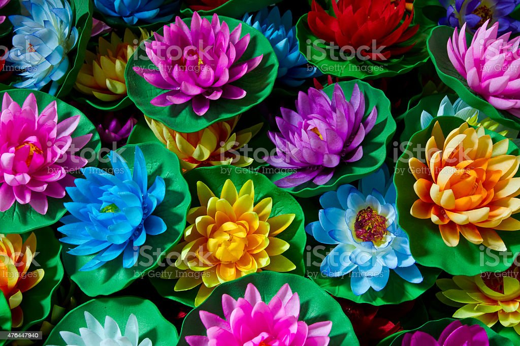 Artificial Lotus Flowers Made Of Cloth Stock Photo More Pictures